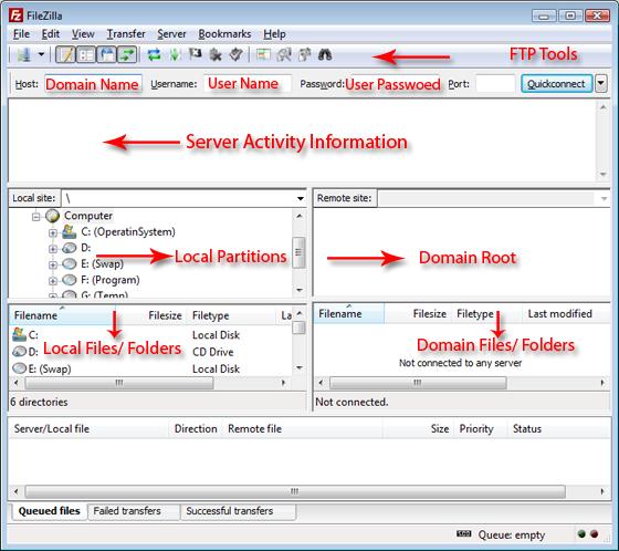 FileZilla FTP platform