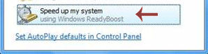 Using AutoPlay to activate ReadyBoost