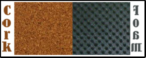 cork mat and foam wall panels